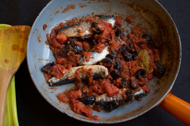 Sardines in Spicy Moroccan Tomato Sauce