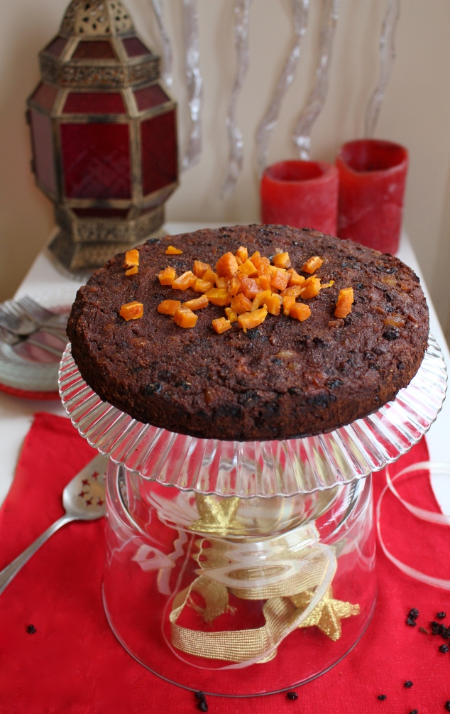 Christmas Chocolate Fruit Cake